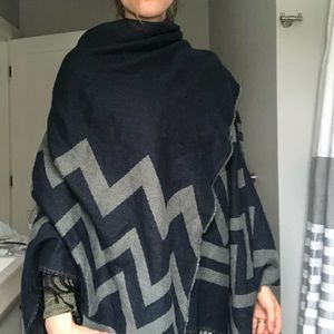 2/20! Giant reversible blanket scarf/cape.